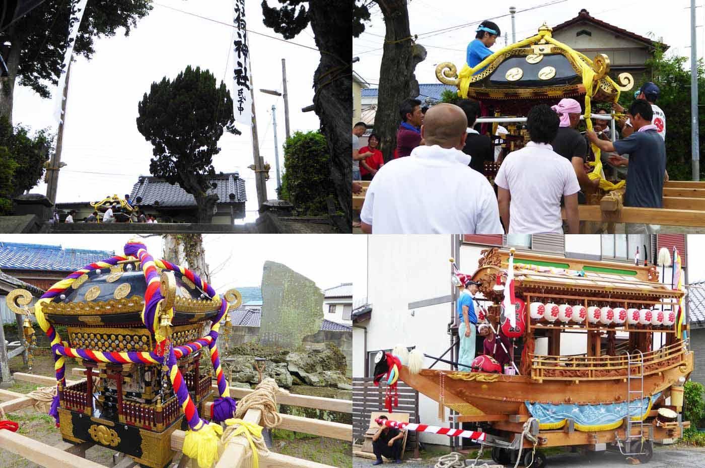 岡本 稲荷神社の様子