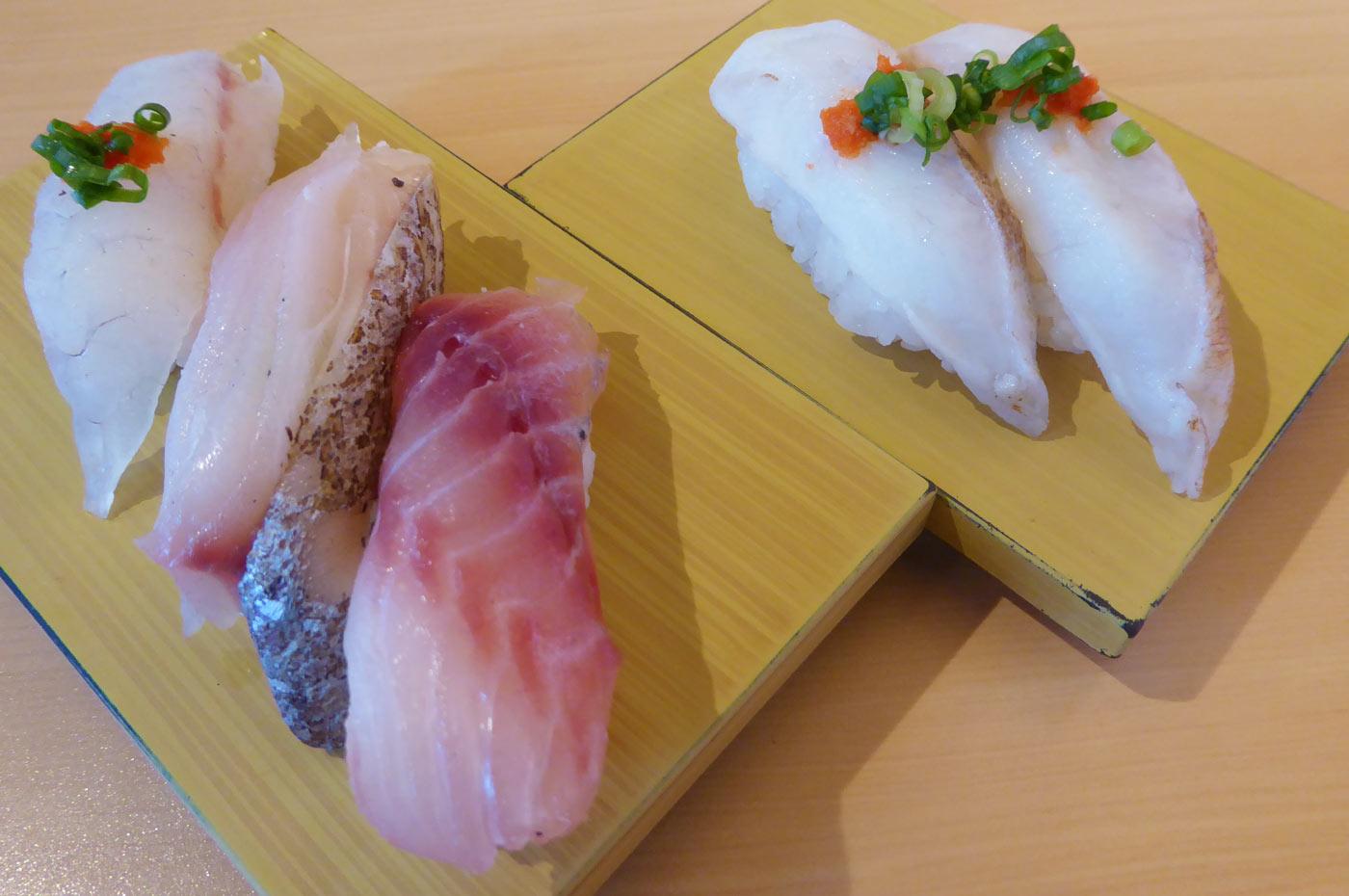 まごち・さわら・いさきの握り寿司