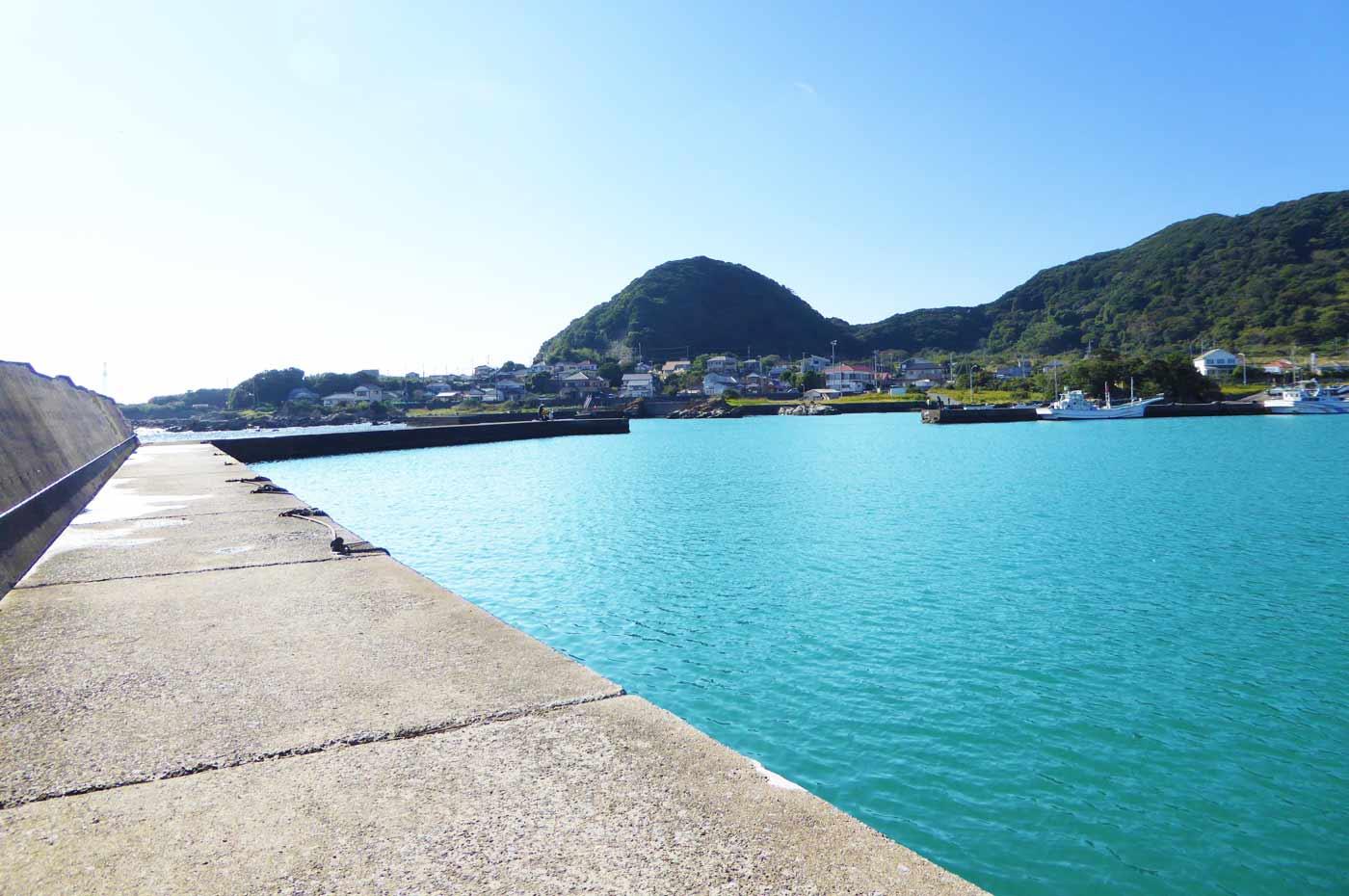 太夫崎の左側堤防内側小突堤のポイント