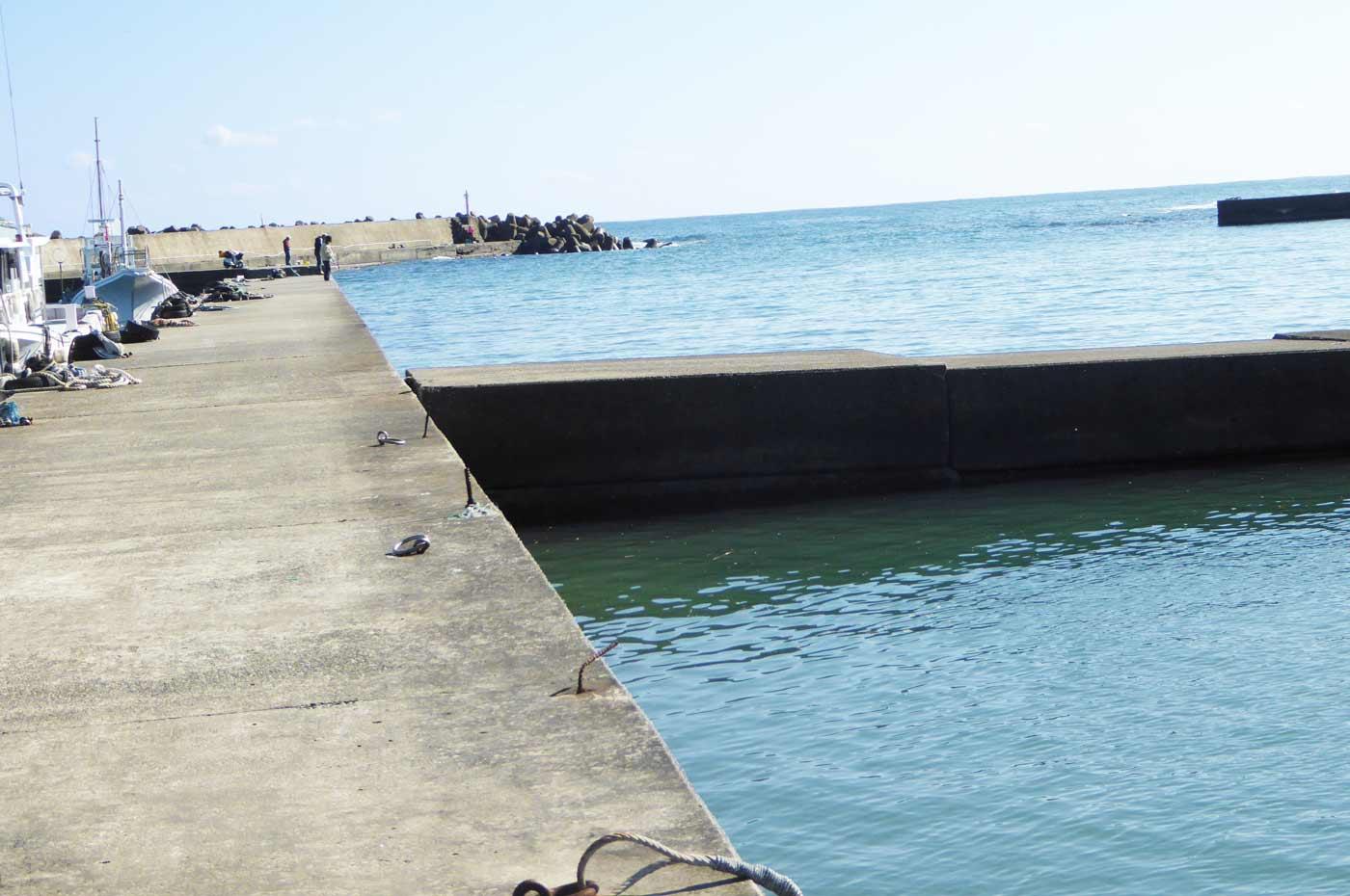 右側の堤防の流れ込み