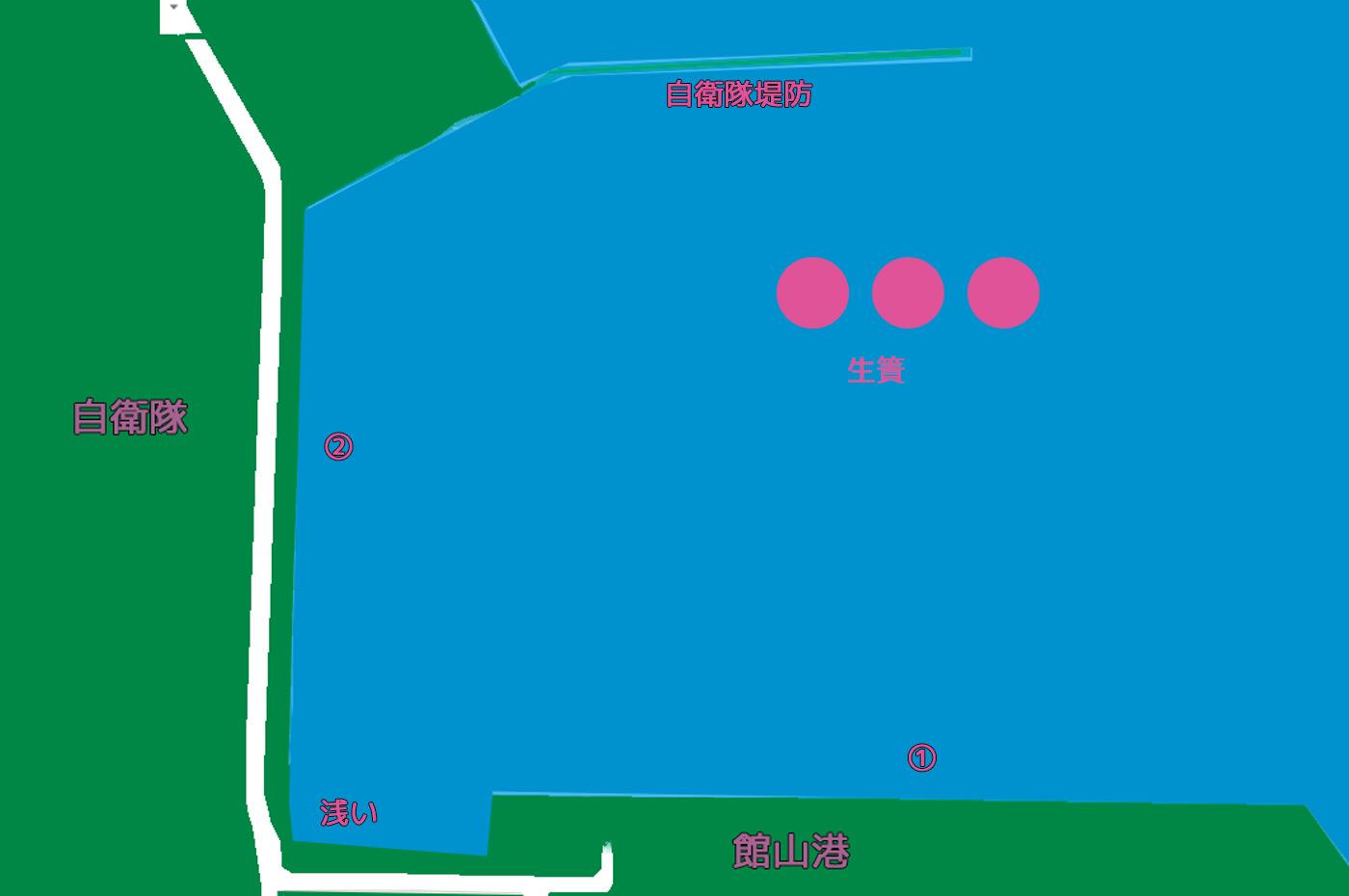 館山港の釣り場ポイント