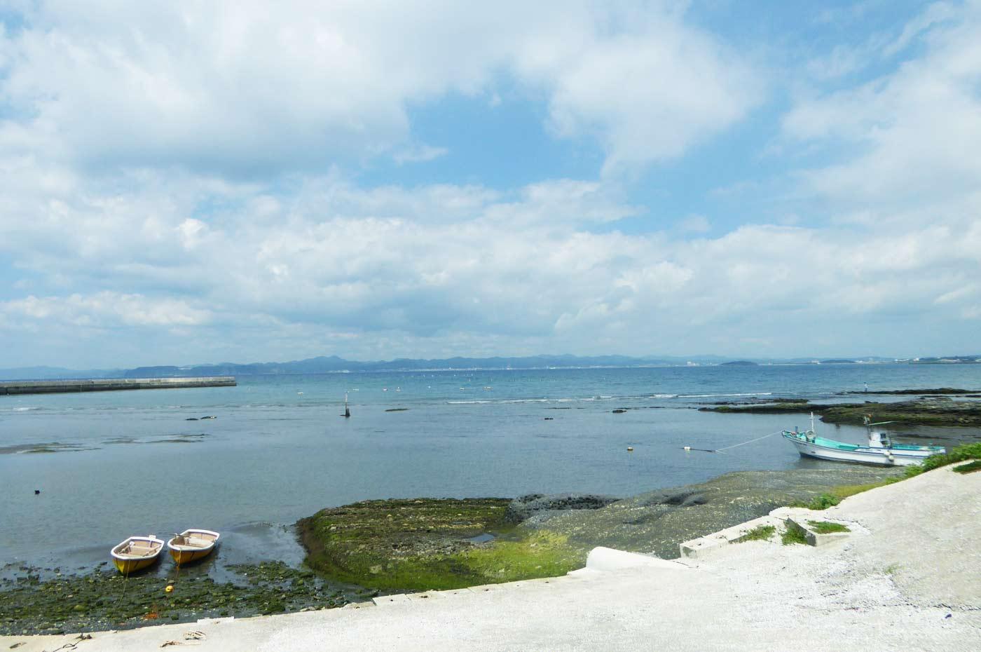 波左間海岸のボート釣り