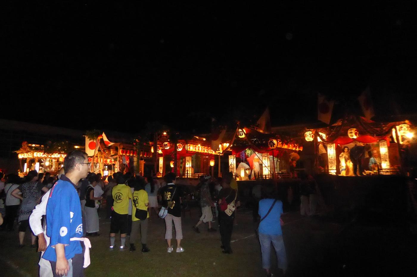 高蔵神社例祭 各地区の屋台
