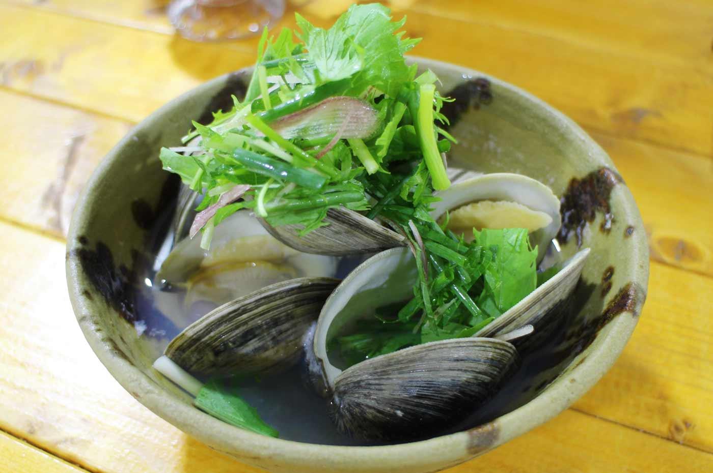 きよっぱちの白蛤の酒蒸し