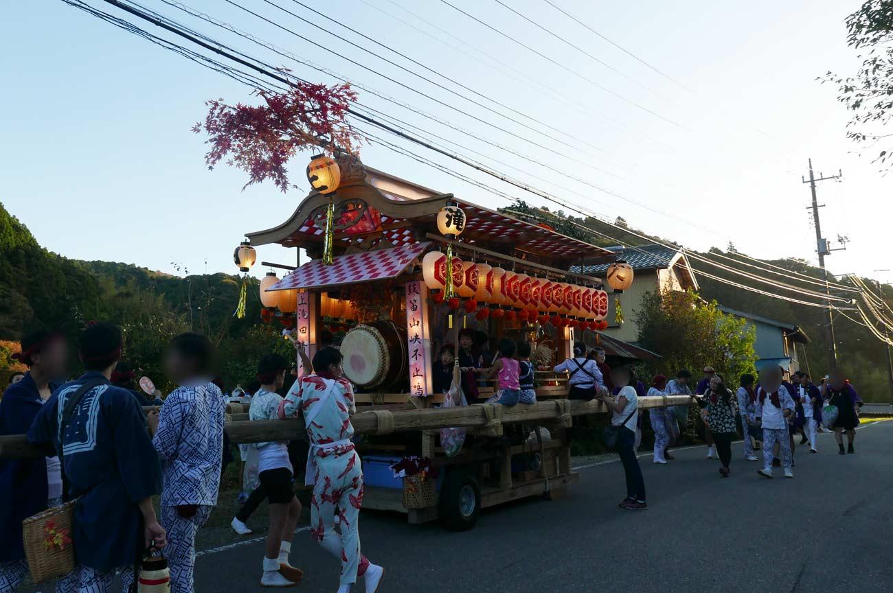 上滝田の屋台(後方)画像