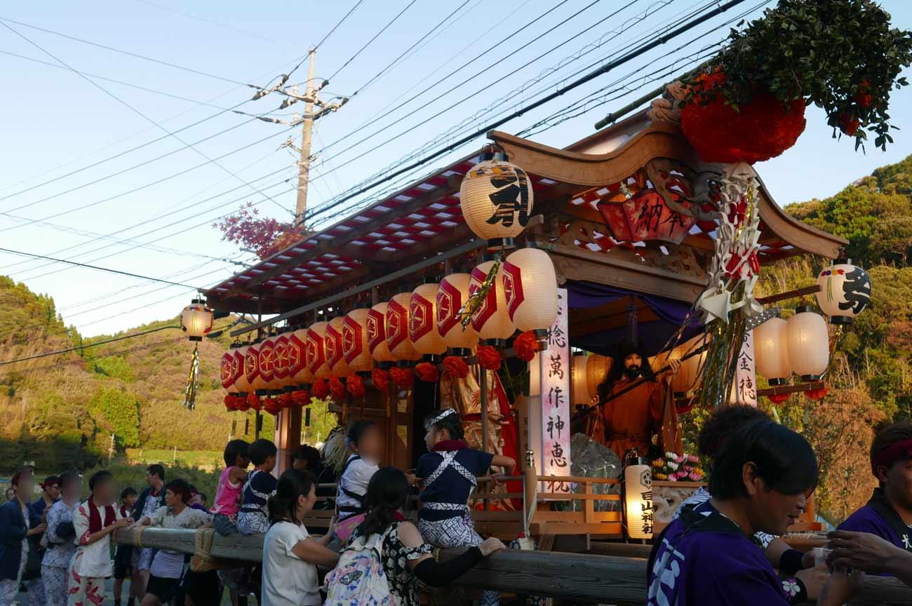 上滝田の屋台(前方)の画像