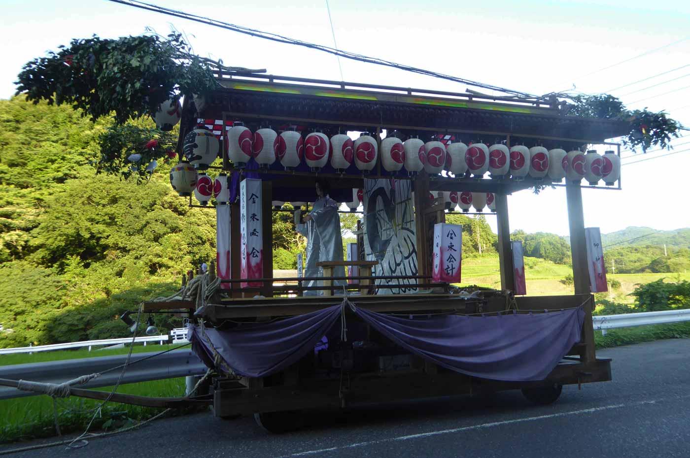 高蔵神社例祭 金束区の屋台