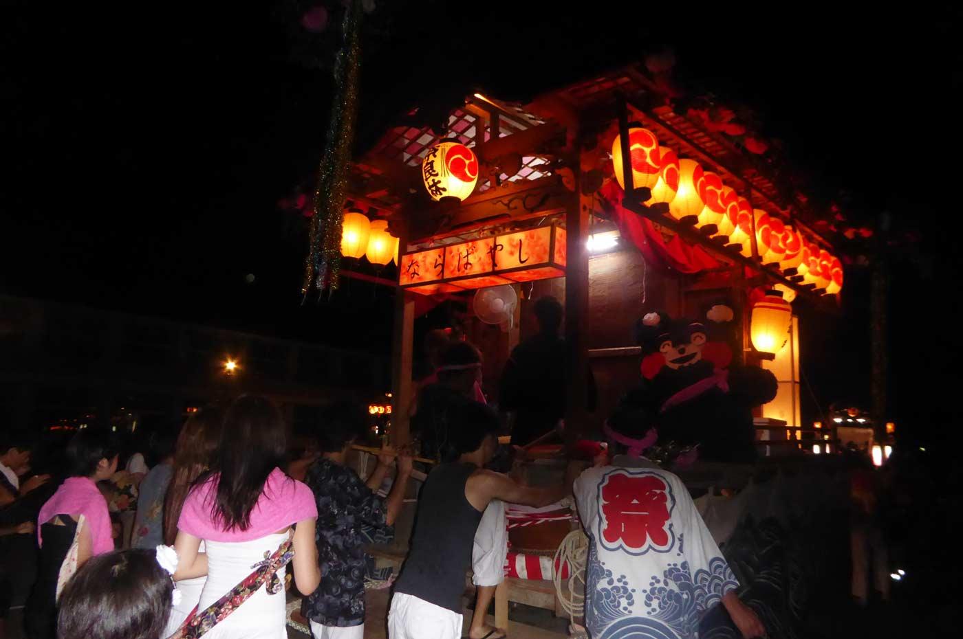 高蔵神社例祭 奈良林区の屋台