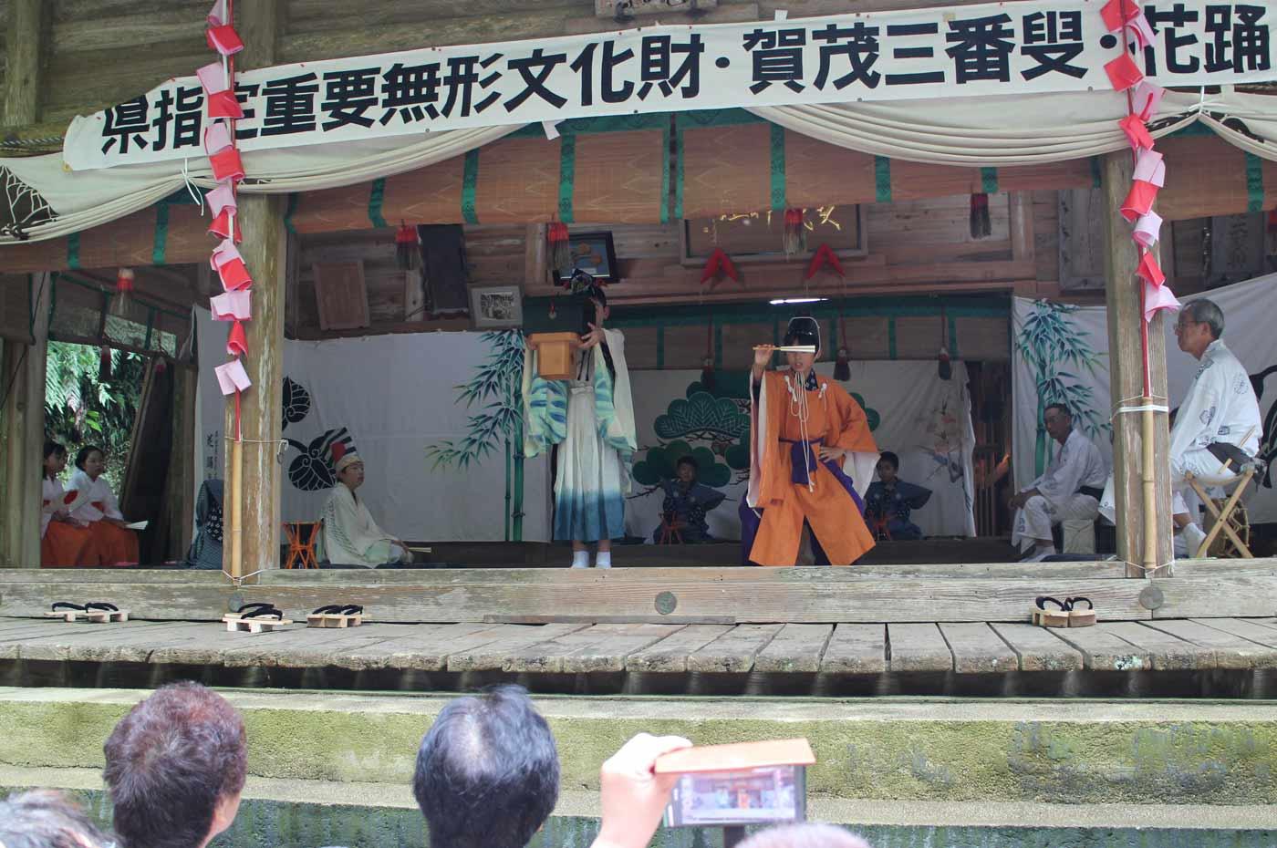 賀茂神社の三番叟 翁の舞い