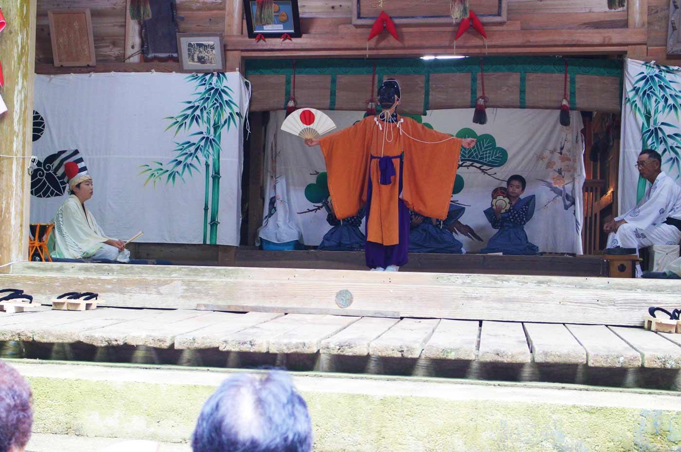 賀茂神社の三番叟 千歳の舞い