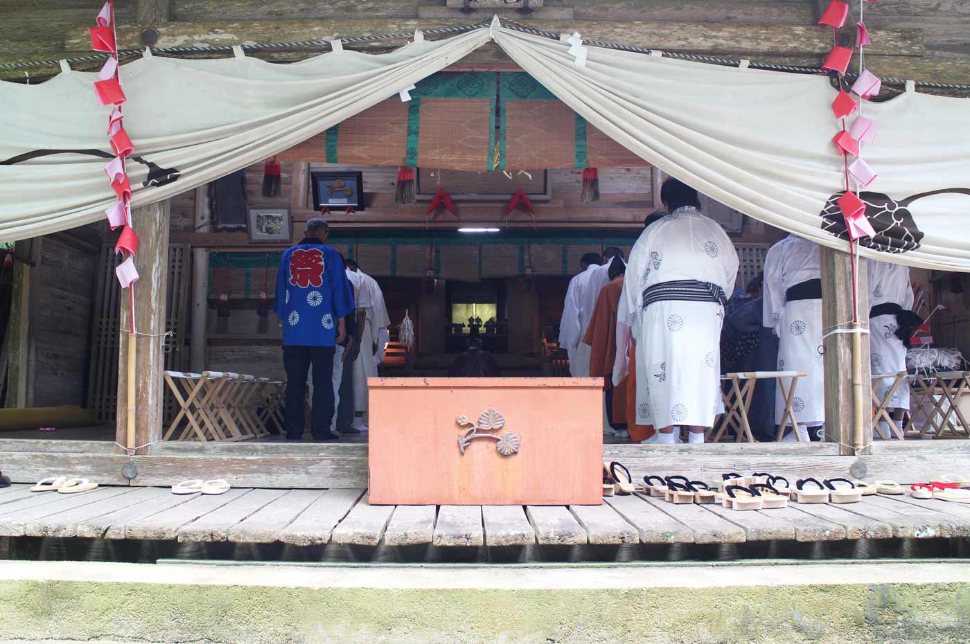 賀茂神社の八朔祭りの式典