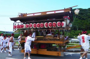 佐久間の祭り 塚原区の屋台