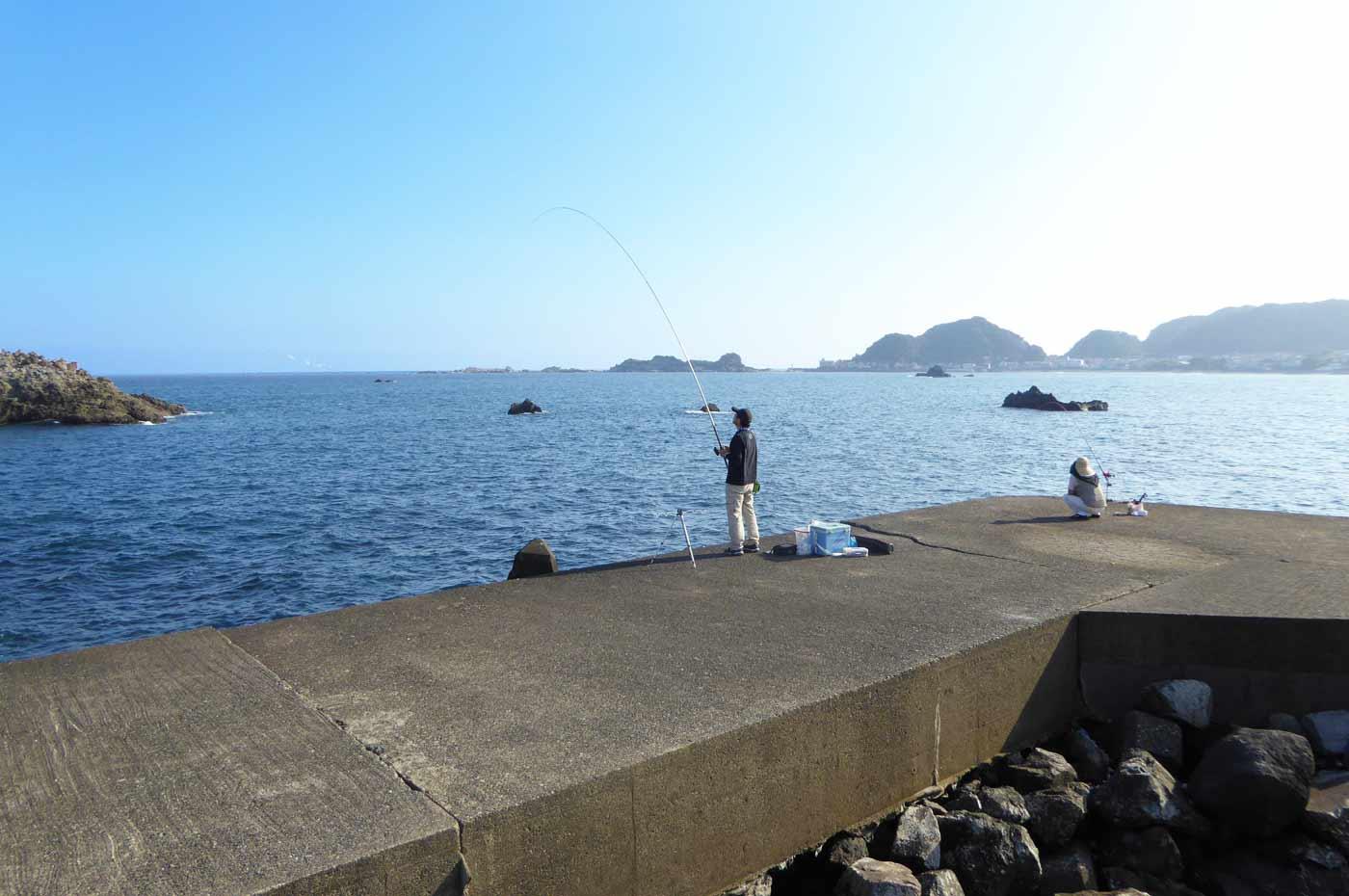堤防外側手前のポイント