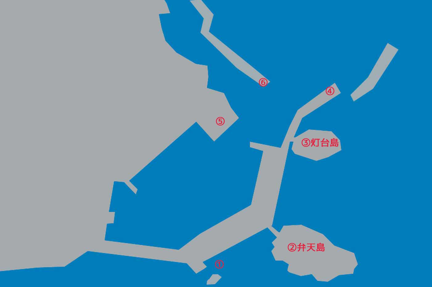 鴨川港のポイント図