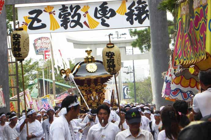 安房神社の神輿