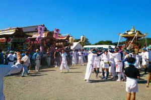 正木の祭り 各地区の屋台集結