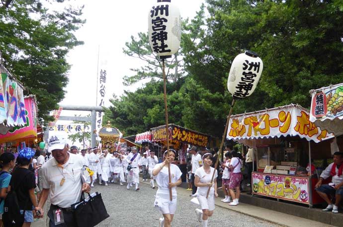 洲宮神社の神輿