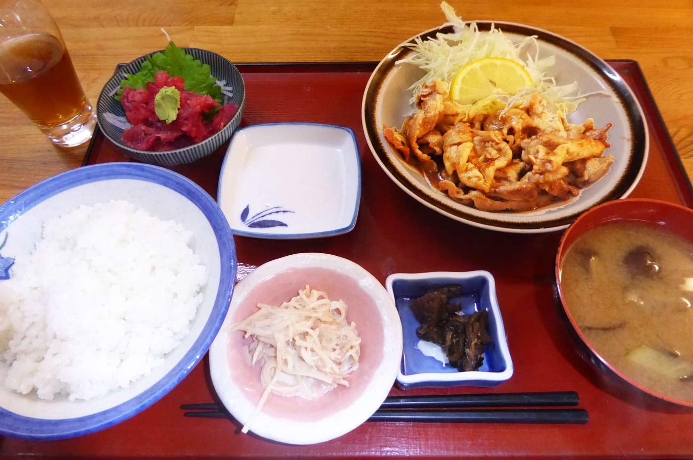 生姜焼き定食の画像