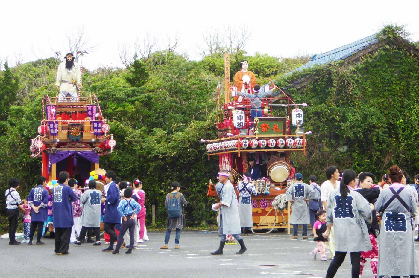 海松中組・東組の山車