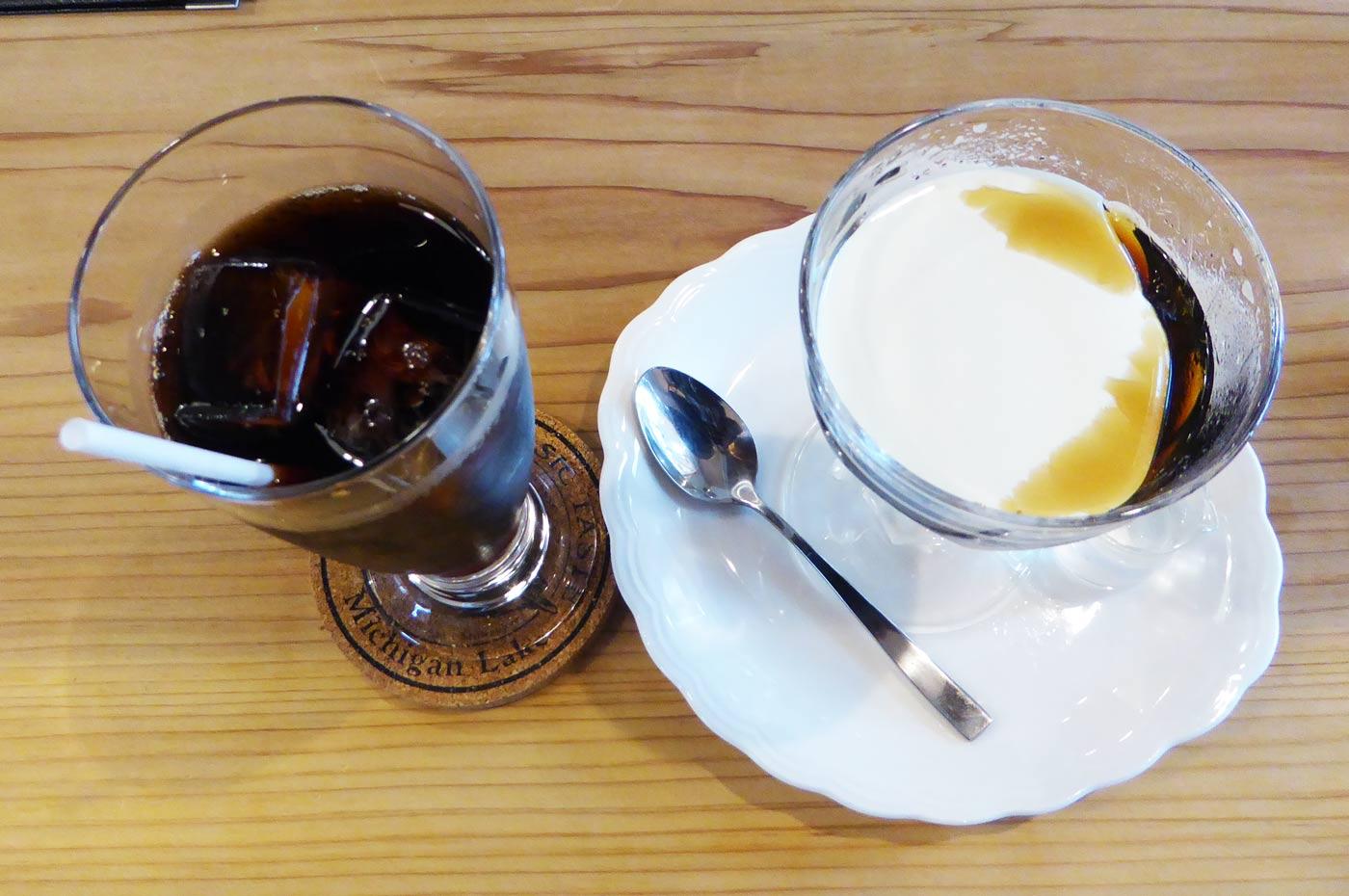 コーヒーゼリーと水出しコーヒー