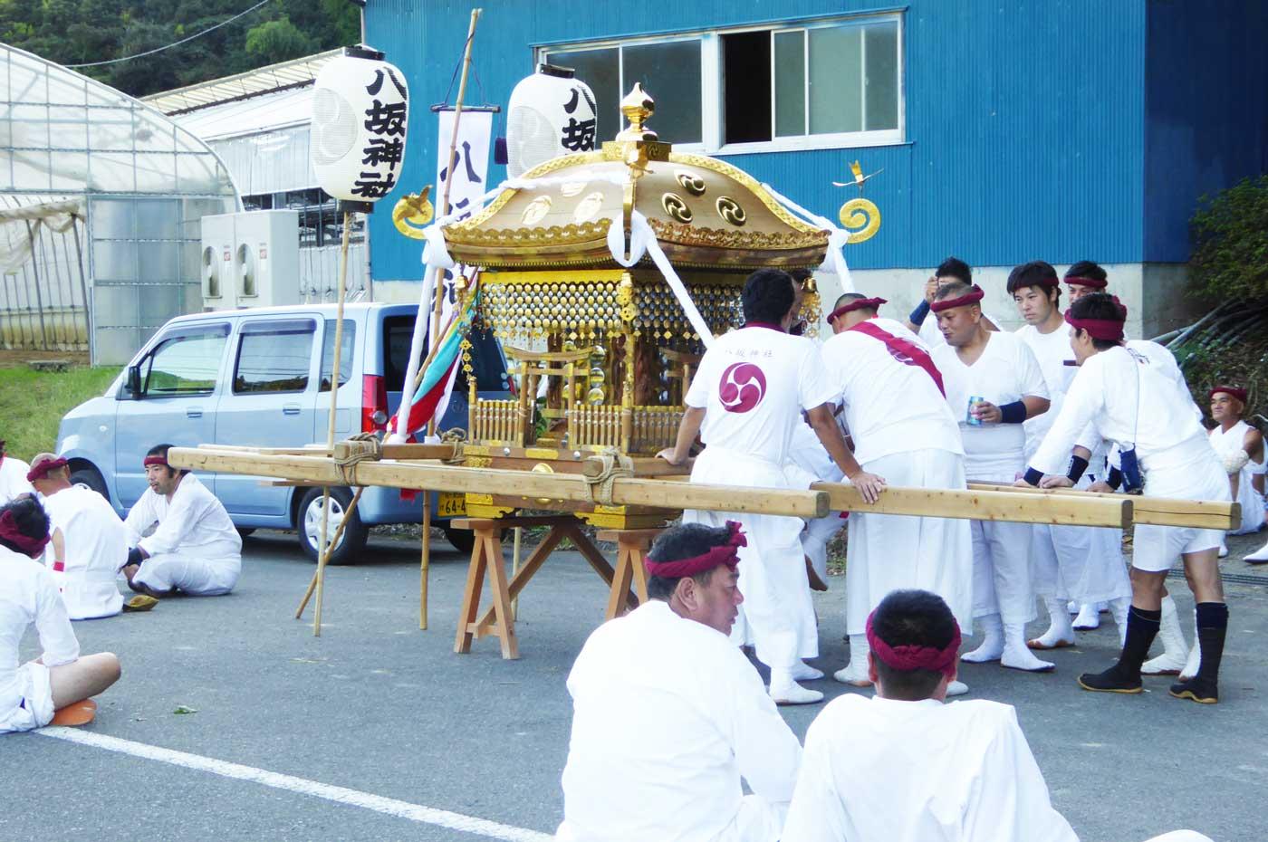 富浦町深名区の神輿