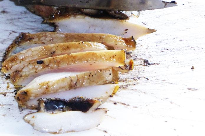 海鮮バーベキュー 焼きアワビ完成