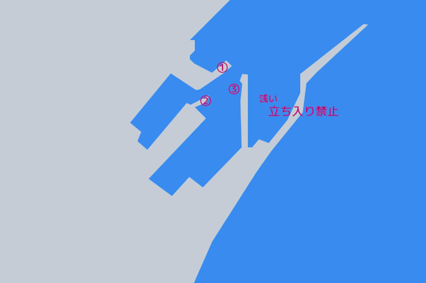 千田港のポイント図