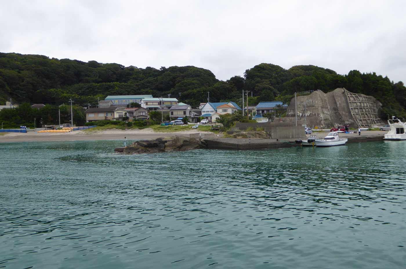 富浦旧港船着き場のポイント