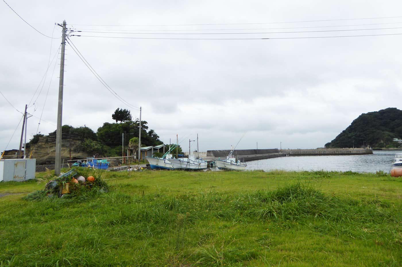 富浦旧港の全景