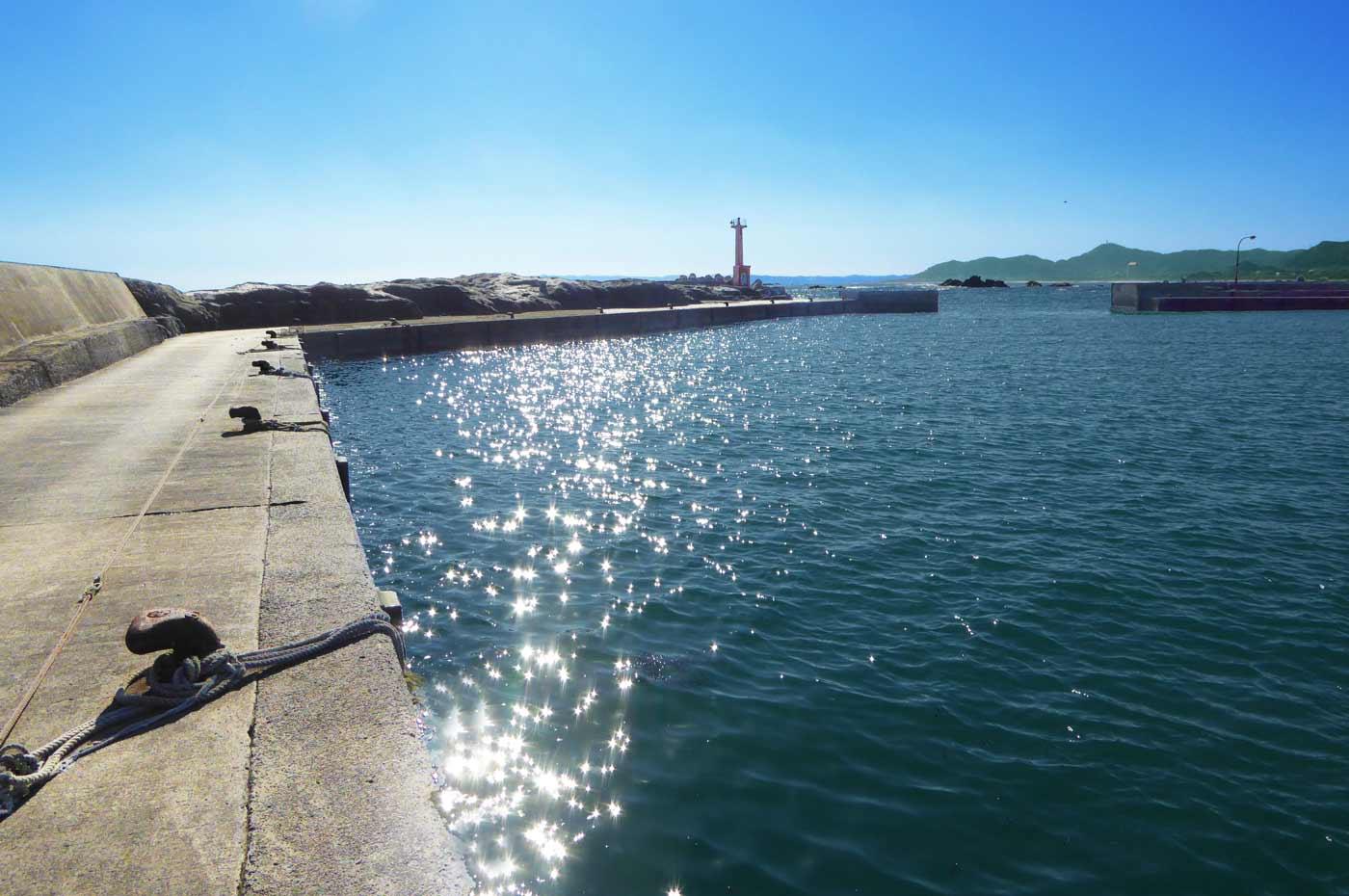 江見漁港の外観