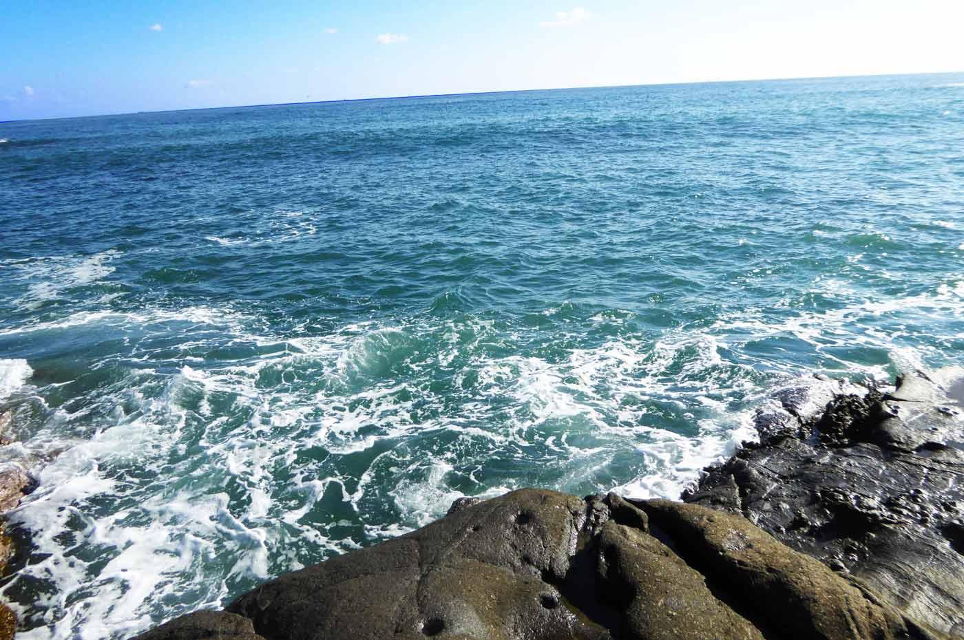 江見港の前島のサラシ