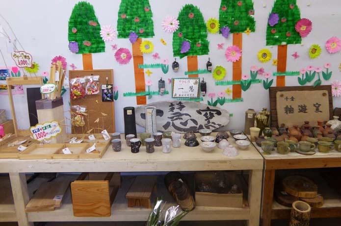 陶芸品販売コーナー