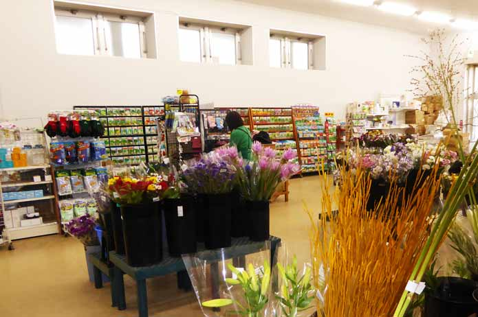 生花・種の販売コーナー