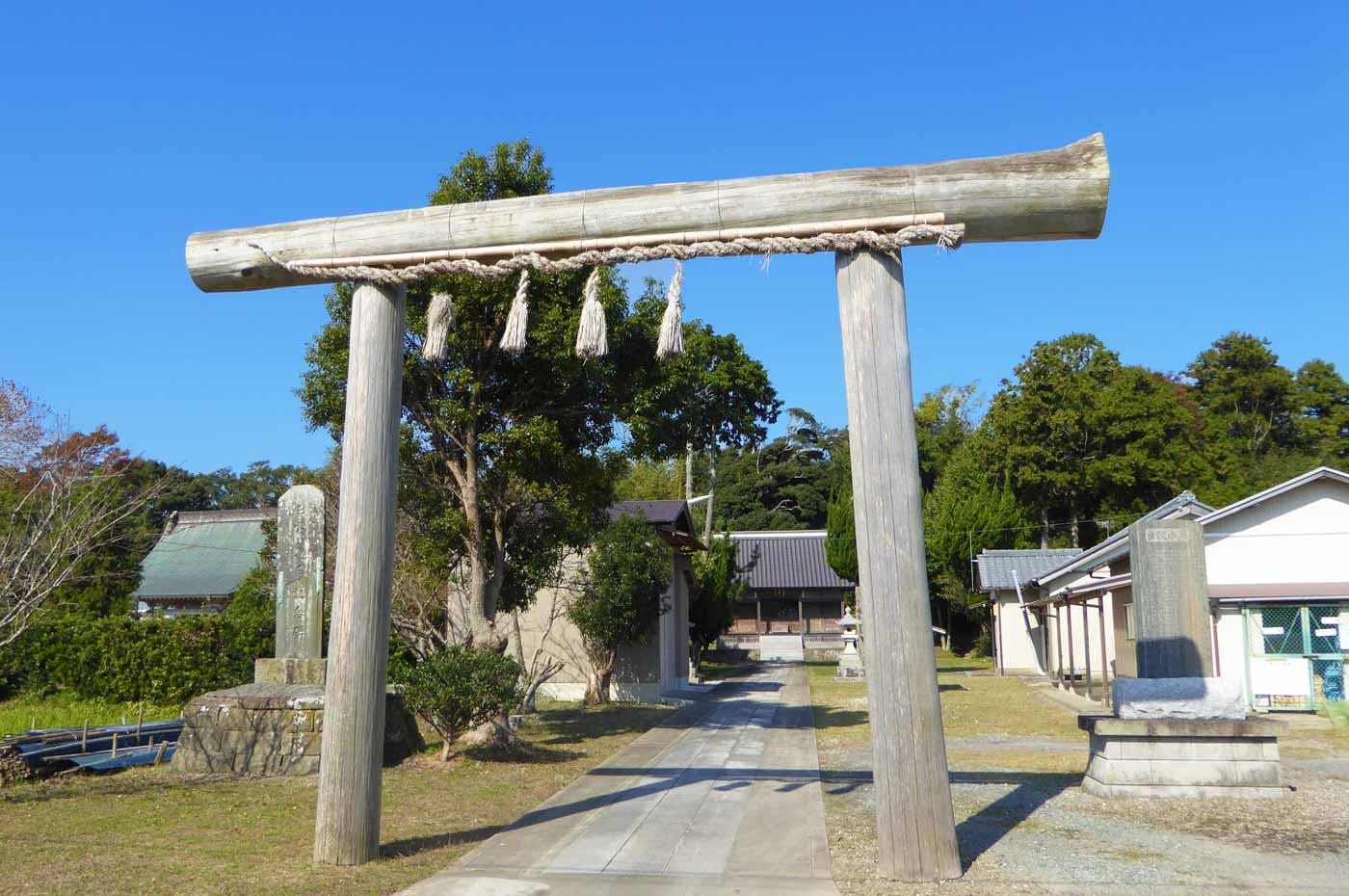 皇神社の鳥居の画像