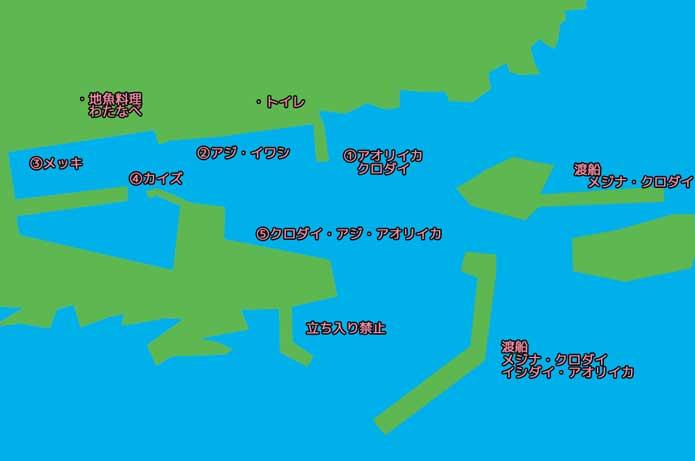 乙浜港のポイント図