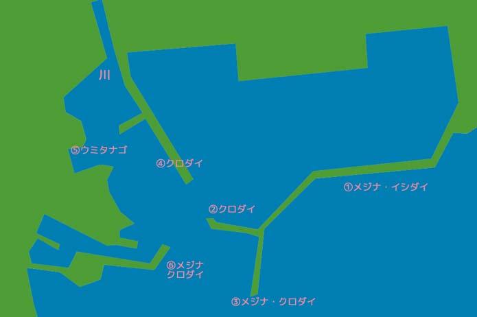 太夫崎のポイント図