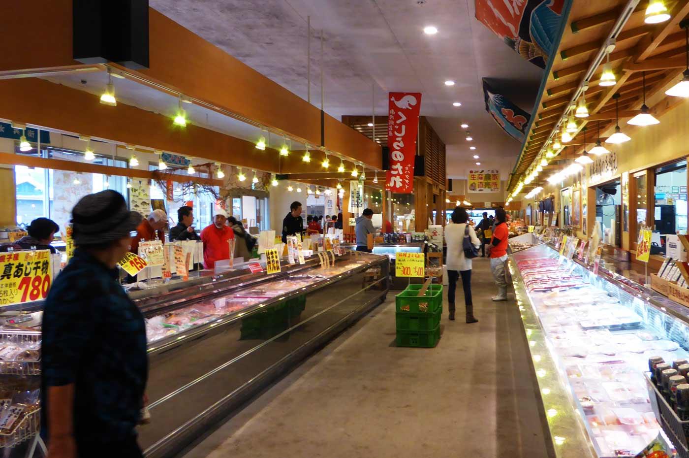 魚鷹の鮮魚コーナーの写真