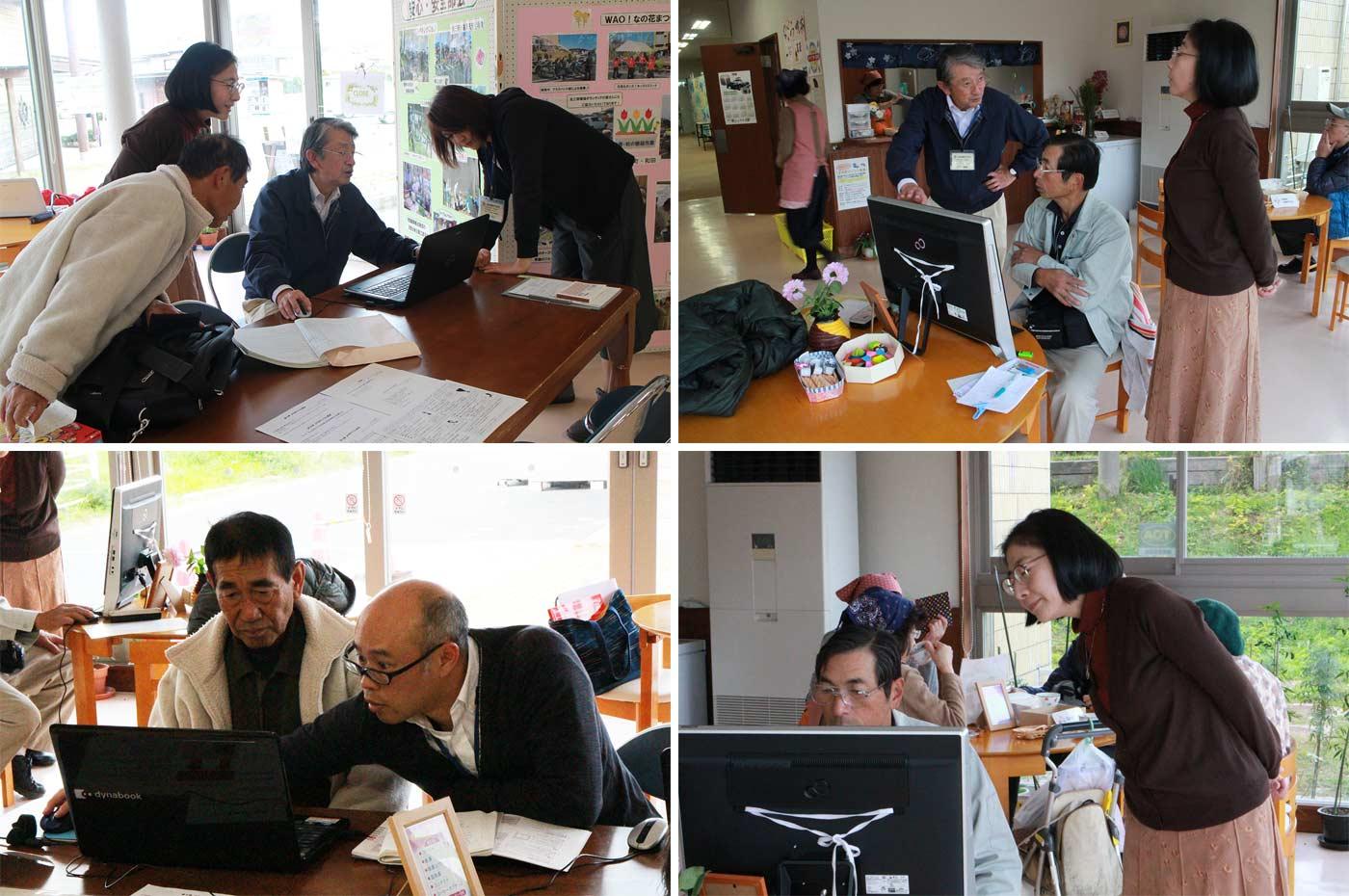 和田地域づくり協議会WAO! 生きがい部会 よろずパソコン教室 指導中