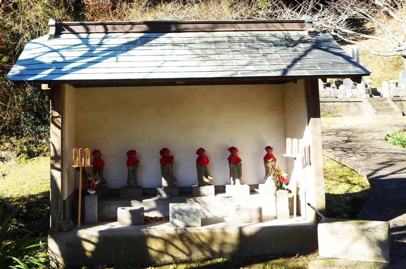 福生寺の六地蔵の写真