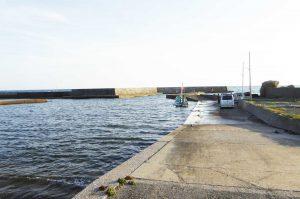 根本港の右側堤防の写真