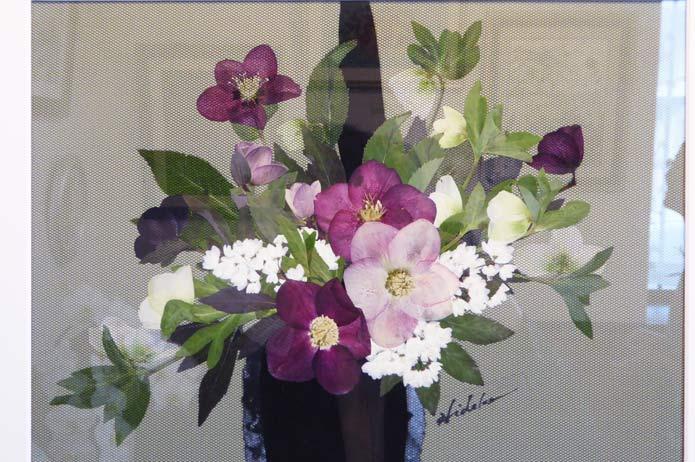 つばきの押し花の画像