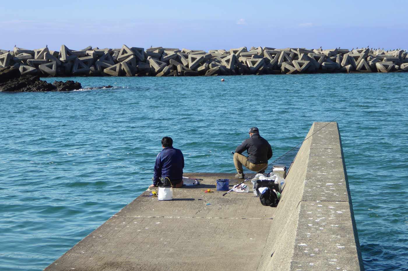 相浜港右側堤防先端の画像