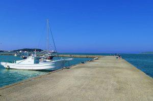 築港堤防の全景写真