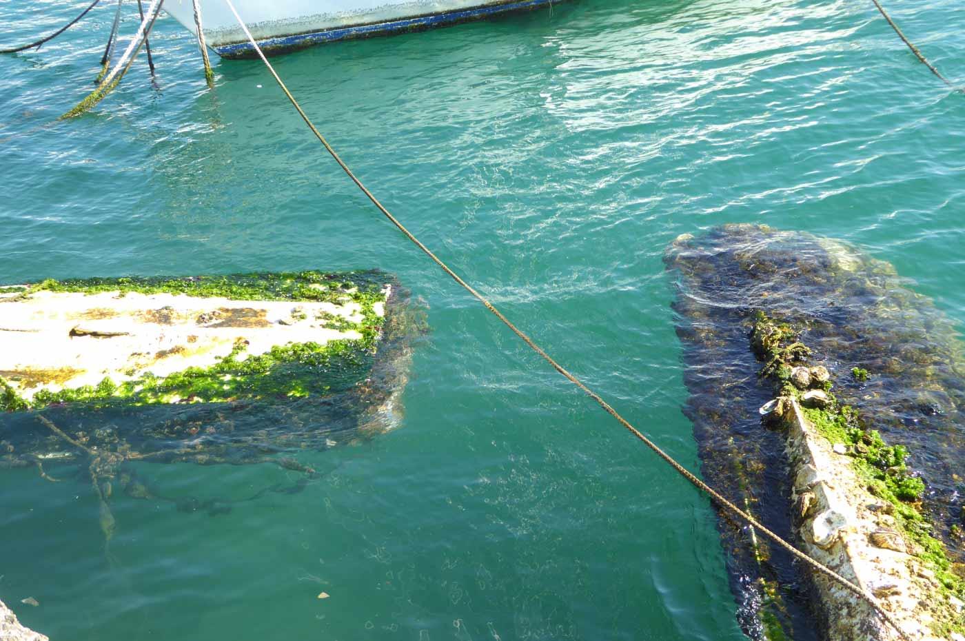 築港堤防の障害物の画像