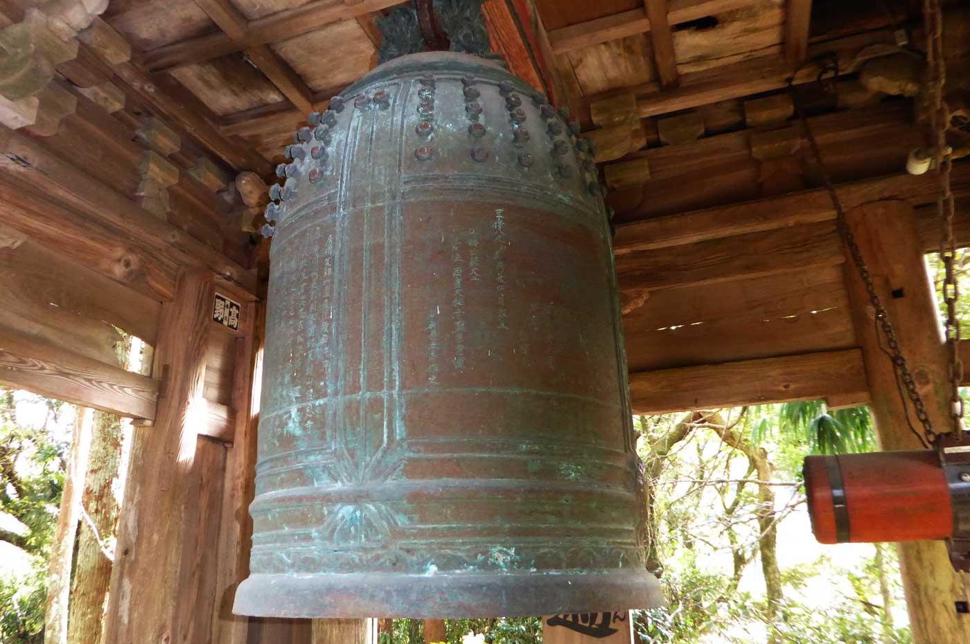 円蔵院梵鐘のアップ