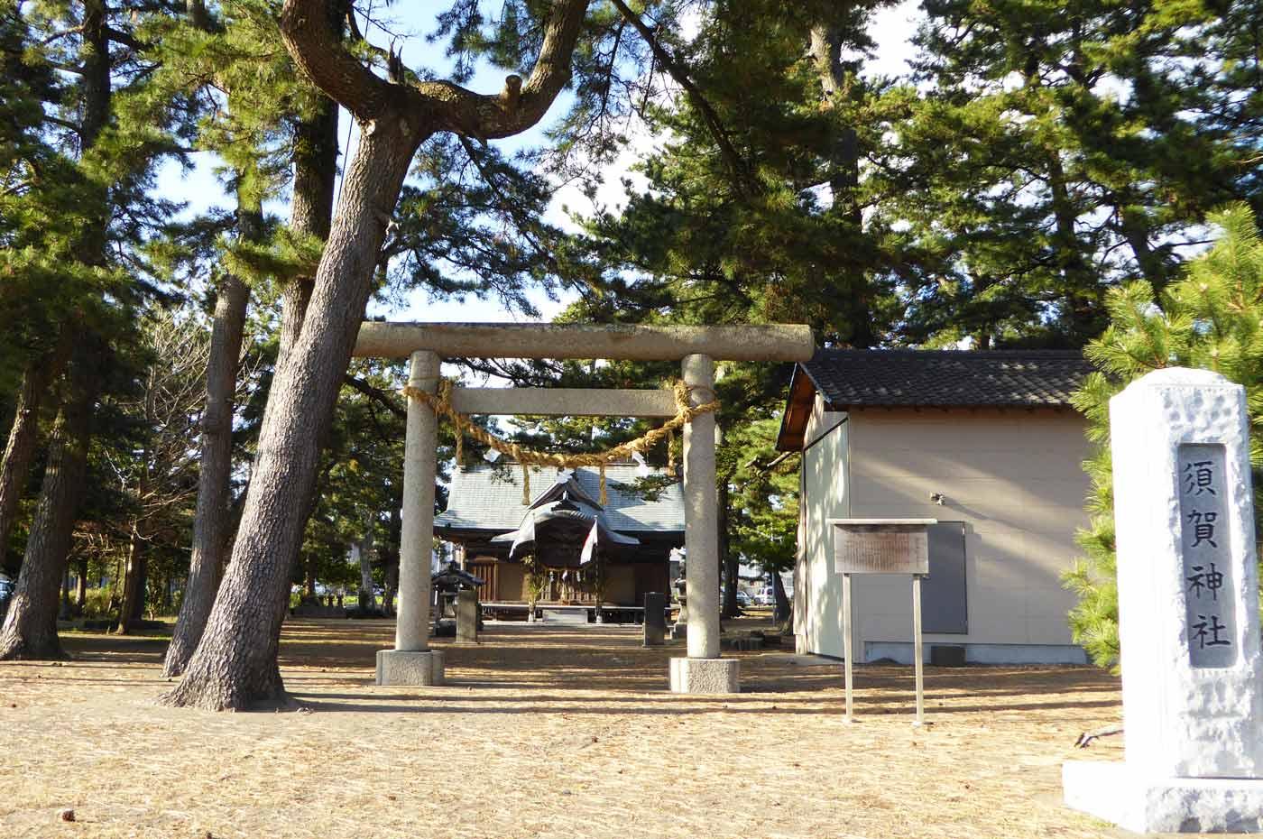 須賀神社境内と本殿の画像