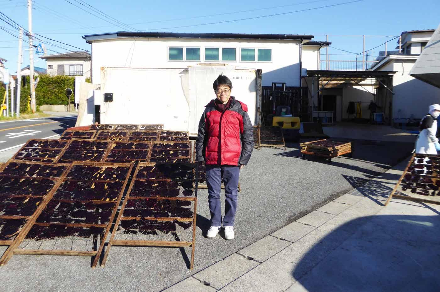 大川浩司社長とクジラのたれ