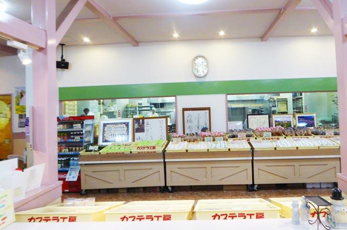 カステラ工房ルアーシェイアの店内の画像