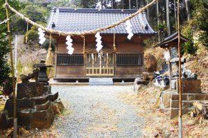 山神社の拝殿の画像