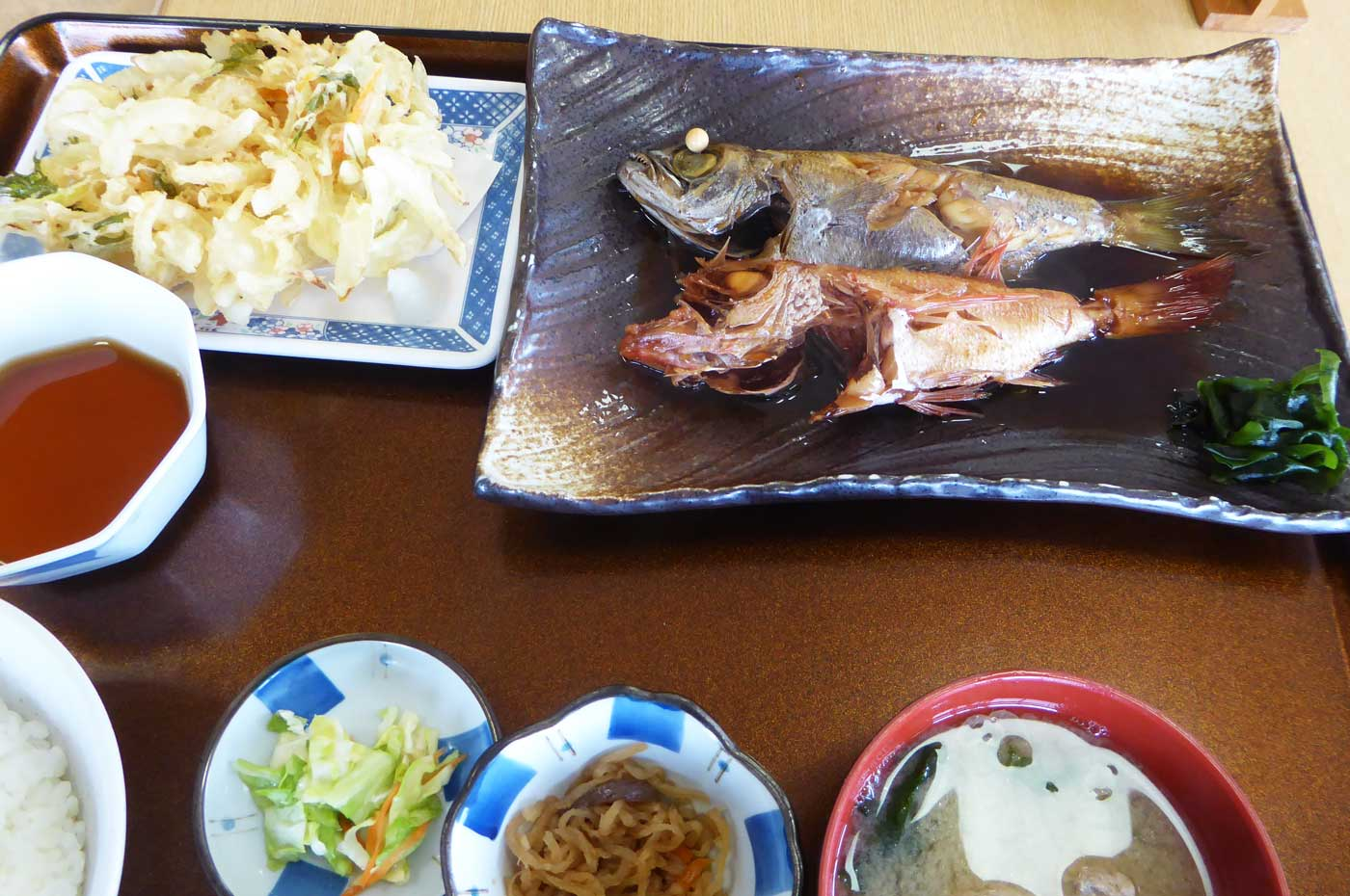 赤むつ・黒むつ煮魚定食